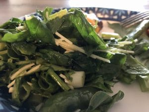 spinach and green onion salad