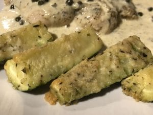 Parmesan Encrusted Zucchini Wedges