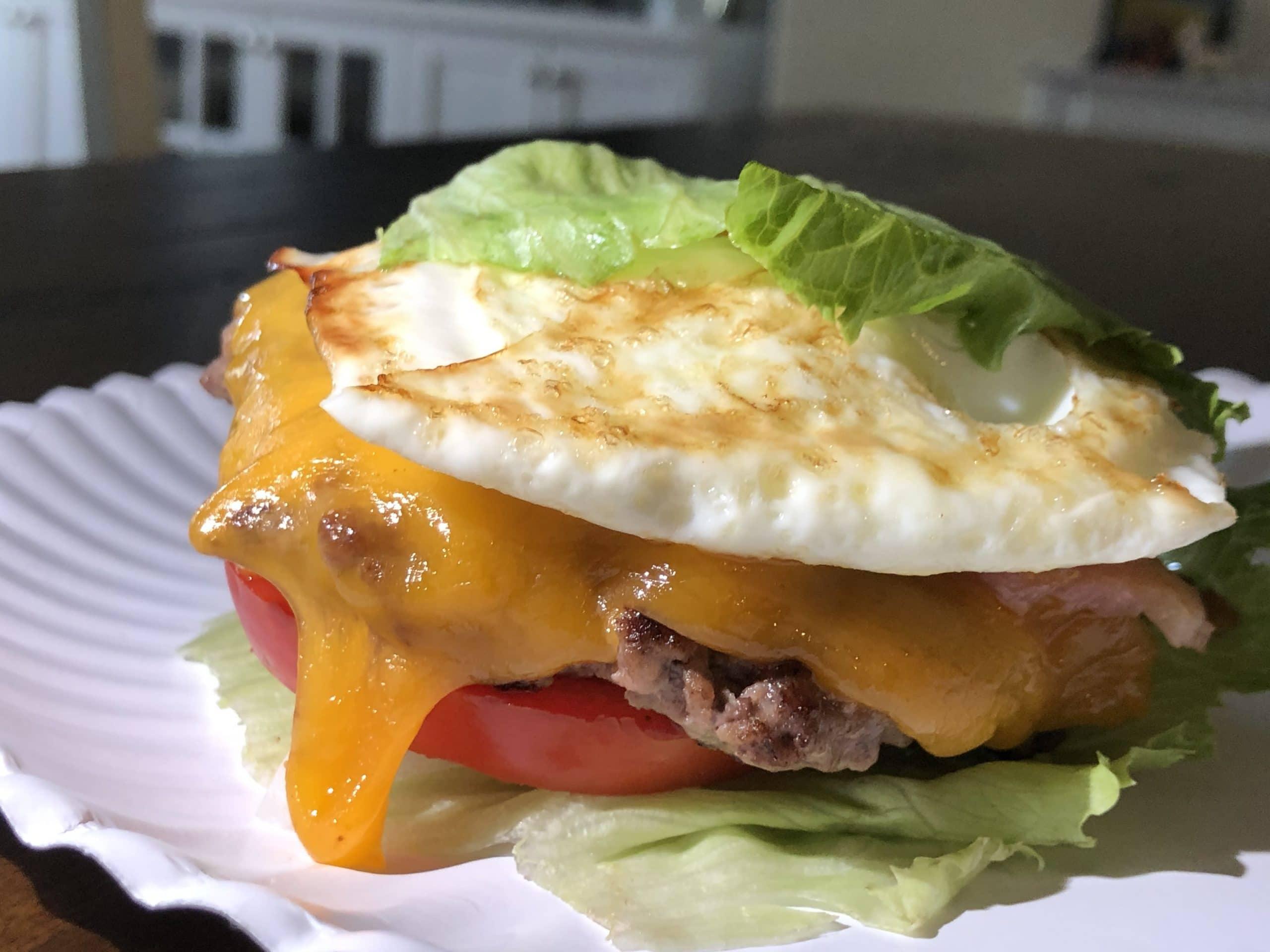 Keto Breakfast Cheeseburger