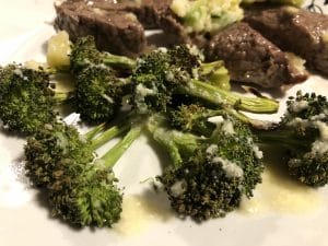 Roasted Broccoli Drizzled in Parmesan Lemon Butter Sauce