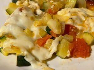 Keto zucchini and tomato recipe