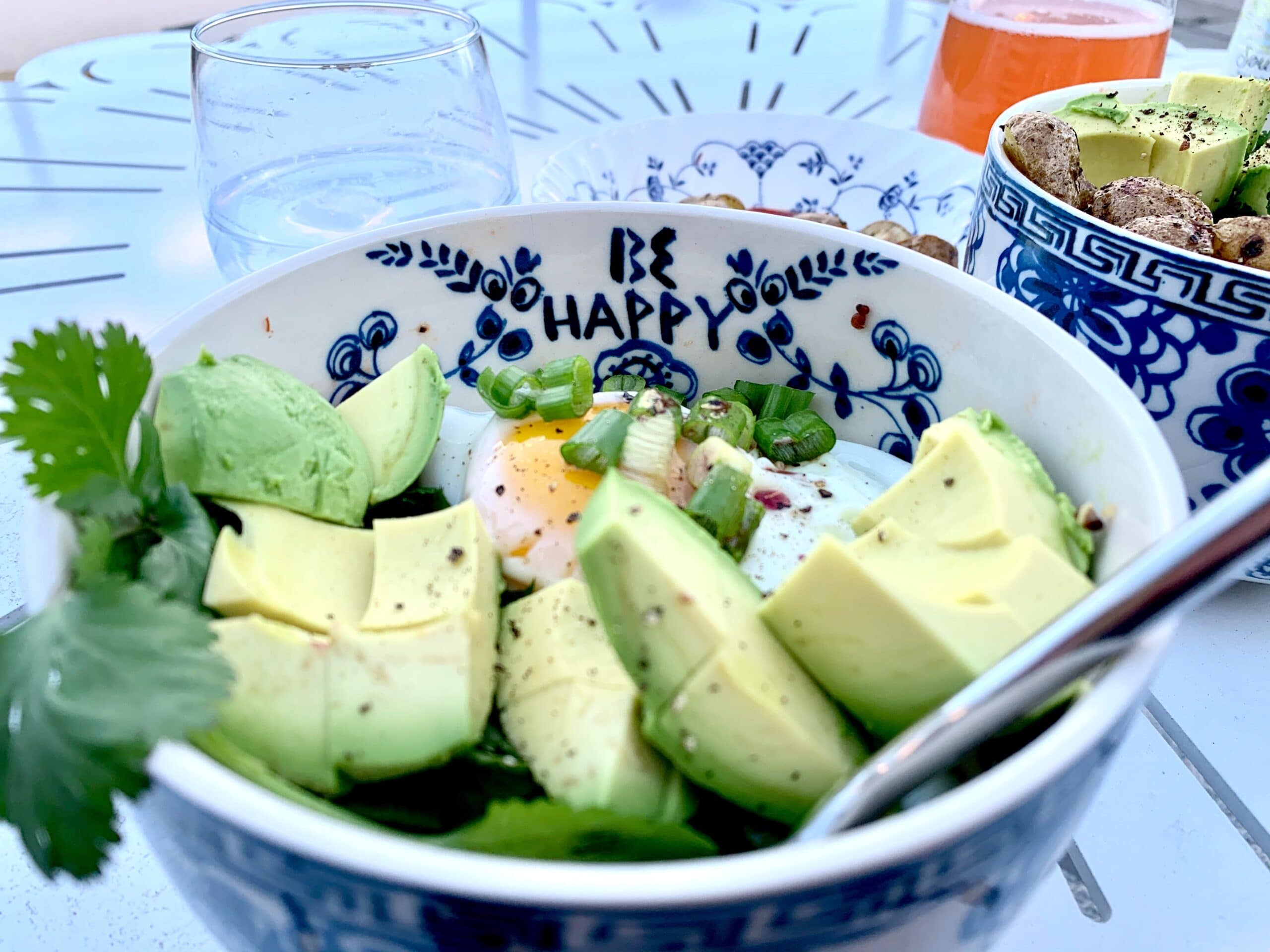 avocado, egg and green onion are great sources of fiber