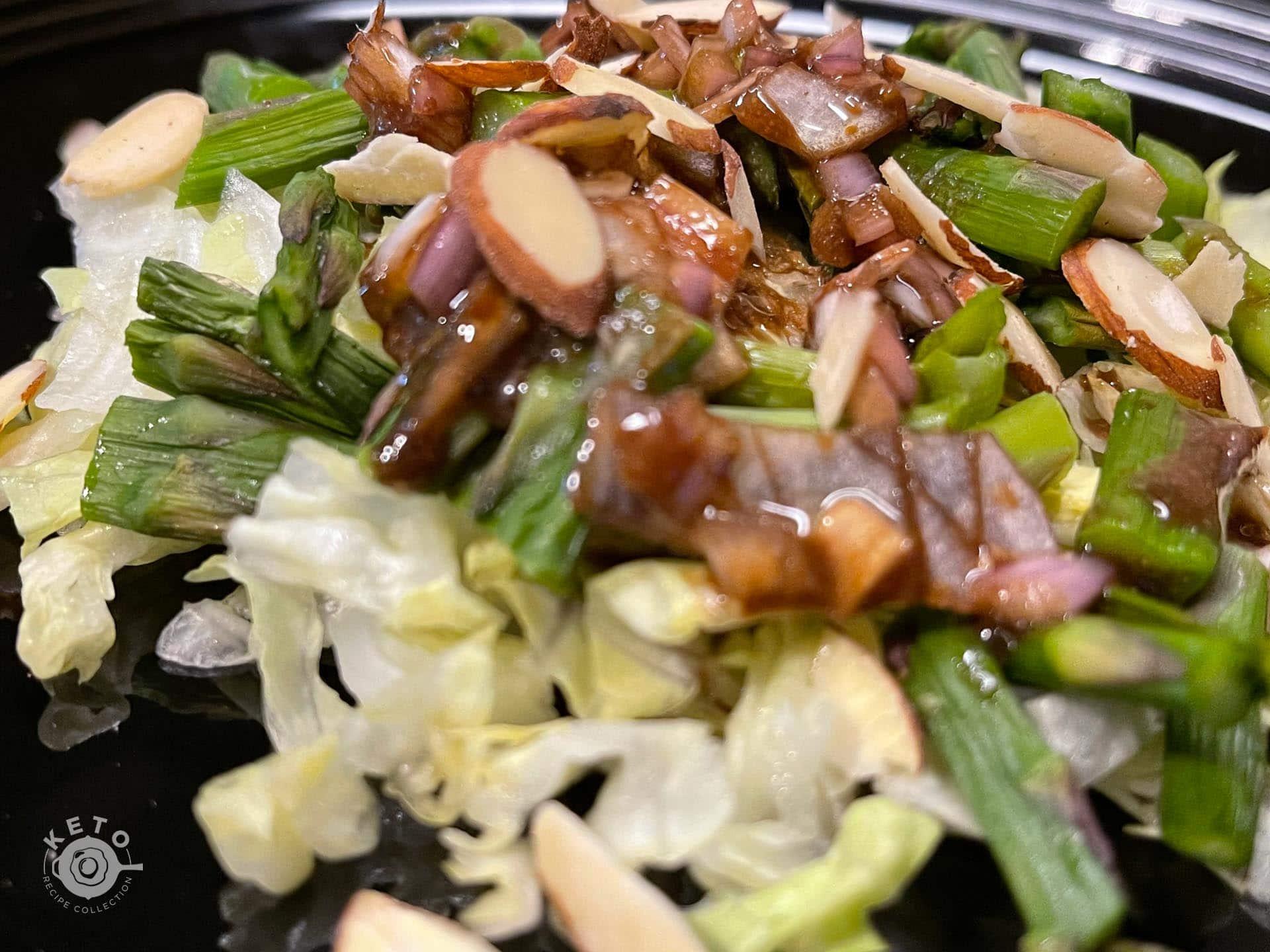 Keto Asparagus Salad with Slivered Almonds
