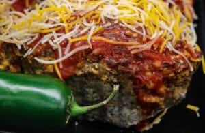 Jalapeno Popper Stuffed Keto Meatloaf Recipe
